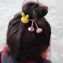 Chick original hair decoration Korean version cute rabbit five-star beaded hair ring girl head rope braided childrens tiara.