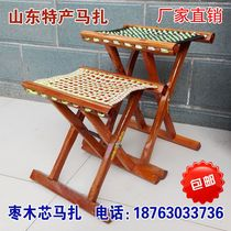Solid wood jujube wood core Horse Horse Horse Horse outdoor barbecue folding stool fishing Maza portable folding stool dining chair