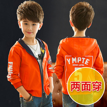Boys coat autumn childrens windbreaker Korean version of the spring and autumn models jacket boys fall jacket childrens clothing