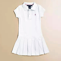 Golf childrens Clothing dress female summer childrens skirt sports skirt suit golf caddy short sleeve Polo skirt