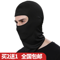 Hooded mens Riding mask sunscreen face cover Cardinals kart windshield hood Head hat anti-dust helmet lining cap