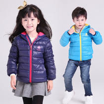 Antarctic childrens clothing 2018 New childrens light down jacket boy short winter girl Korean version of the warm jacket