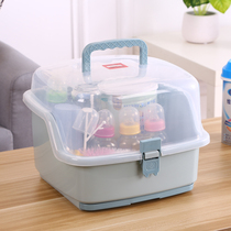 Japan advanced PP baby bottle storage box baby supplies drain cup dry stand put tableware milk box