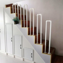 Simple modern industrial wind U-shaped small fence indoor and outdoor stair railings attic hallway kindergarten handrails