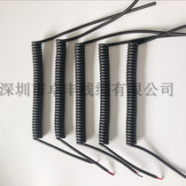 Spring line PU spring cable wire spiral wire spiral extension wire all kinds of specifications complete