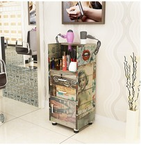 Hair salon cabinet beauty salon products tools car cabinet floor with drawer-type lockers removable Barber cabinet