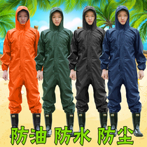 Siamese protective clothing rock wool glass wire spray paint waterproof dust breathable aquaculture deodorant playing drugs epidemic prevention work clothes