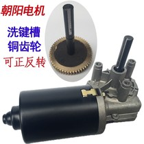 Sun Motor worm motor self-locking 12v 24v DC gear motor copper turbine shaft washing keyway