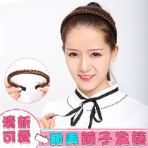 Wig Lady twist headdress hair hoop Korean version of the hand-made twist hair card non-slip toothed wig headband