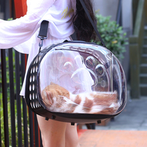Pet Backpack transparent cat bag space capsule dog bag cat box cat Cage Portable Outing bag foldable breathable cat bag