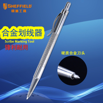 Steel shield alloy scribing plate glass ceramic metal needle fitter mark tool woodworking drawing pen