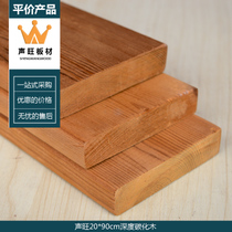 Sound Wang depth carbonized wood floor Pintu Pine flower groove flower vine table and chair Pavilion custom anti-corrosion wood material