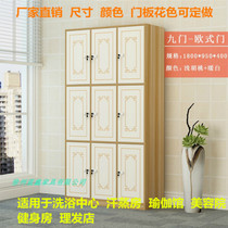 19 new bath Center sweat steaming room yoga gymnasium gym wardrobe wooden beauty salon storage cabinet with lock