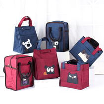 Bento lunch box bag lunch box bag handbag waterproof handbag portable lunch box with rice bag canvas insulation bag