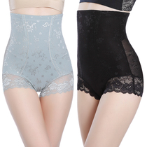 Body sculpting pants high waist seamless breathable lace thin section after the abdomen waist hip slimming ladies underwear