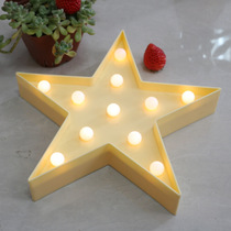 Five-pointed star String Lights lantern photography props room romantic hanging lights creative bedroom decoration lamp modeling Lights Night Lights
