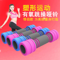 Dumbbell female pair skinny arm home fitness equipment Yoga lady Dumbbell Mens plastic arm skinny arm jump exercise dumbbell