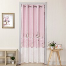 Semi-cloth plain simple wind room dormitory closed spring and autumn cloakroom aisle free punch winter shelter curtain