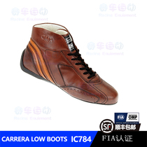 OMP Carrera low boots IC784 men and women models retro leather imported FIA certification flame retardant racing shoes