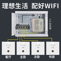 TP-LINK 86 gigabit wireless AP panel wifi embedded router POE power outlet panel AP large home Villa wifi coverage package TL-AP