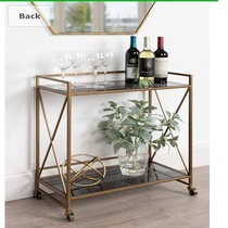 Nordic restaurant Cake Rack Hotel dessert light luxury trolley home iron tea mobile wine cart delivery cart.