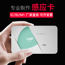 ID smart card IC membership card custom 13 56HZ Fudan non-contact M1 RF induction chip card access elevator card white card