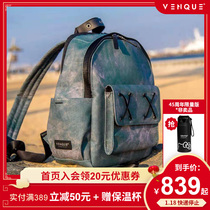 venque Vanke shoulder bag Tide brand women in Europe and the United States street fashion water ripple male couple backpack sense bags