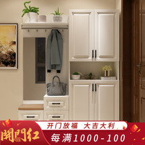 Shoe Cabinet simple modern foyer cabinet multi-function entrance door closed cabinet partition cabinet living room coat cabinets storage Cabinets