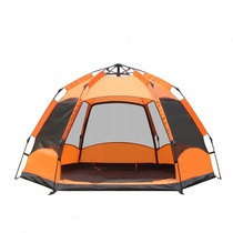 Automatic tents 3-4 people hexagonal hydraulic tents 5-8 people double rain thick camping beach