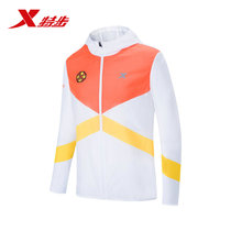 (Chongqing marathon) special step Men hooded windbreaker 2019 summer new long-sleeved sports running jacket