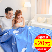 Hotel dirty sleeping bag adult travel hotel travel double anti-Dirty Sheets pure portable cotton quilt cover