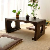 Solid wood tatami coffee table floating window table Kang table Japanese-style ground table low table Qin table National School table sweat steaming room table