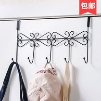 Creative door rear hook rack No trace strong sticky hook bathroom hanging hook wall free nail clothes rack hanger