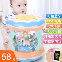 Girl aged 9 toys month music box beat three small baby baby hand beat drum 0-1 baby boy