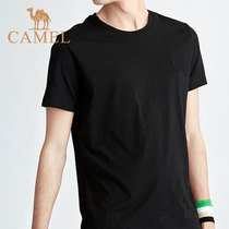 Camel mens short-sleeved T-shirt male 2019 summer new sports fitness quick-drying shirt loose cotton compassionate