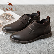 Camel mens shoes 2018 autumn and Winter new fashion comfortable trend casual shoes boots leather boots fashion mens boots