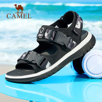 Camel outdoor 2019 summer new sandals male trend Korean version of outdoor leisure fashion Velcro beach shoes