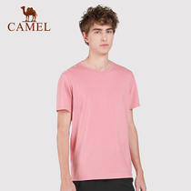 (2019 new)camel outdoor T-shirt mens spring and summer light soft breathable quick-drying casual round neck shirt