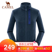 (2019 autumn new)camel outdoor knit jacket windproof warm collar windproof fleece jacket