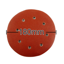 Boltbola original accessories plant velvet sandpaper 180mm7 inch 8 hole sandskin wall grinder dedicated