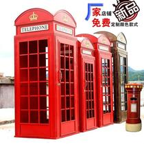 Decorative mall ornaments background atmosphere display layout firm bar red telephone booth door Park still life art