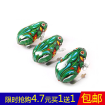 Iron frog jump frog children winding small animal 80 classic nostalgia winding toys puzzle gift