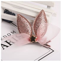 Children hairpin headdress Princess Lady cute little girl Korean version of the clip girl hair accessories rabbit ears bangs clip