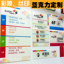 Acrylic custom high-grade department number door number UV printing plastic stand brand screen printing signs brand custom