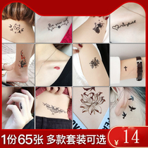 Painless small tattoo semi-permanent men and women tattoos artifact waterproof tattoo stickers permanent 1 year lasting flower arm hand