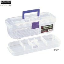 Japan imported RING STAR transparent toolbox storage box hardware box art box fishing gear box R-3
