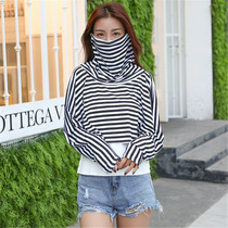 Summer new cycling neck sunscreen shawl female breathable veil modal sunshade mask sun clothing air conditioning shirt