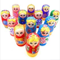 Wooden Matryoshka Russian matryoshka 5-layer color childrens doll Doll toys to send girls birthday gift cute