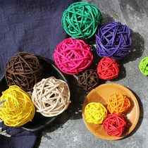 Rattan handmade bead curtain color kindergarten twine ornaments weaving decoration rattan decoration hand-woven