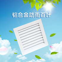 Custom aluminum alloy central air-conditioning new air-conditioning external wall rain-proof single-layer blinds back out of the air outlet air access port
